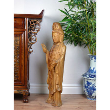 """Holzskulptur """"Reine Guanyin"""""""