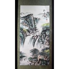 """Hängerolle """"Berglandschaft"""", chinesisches Rollbild"""