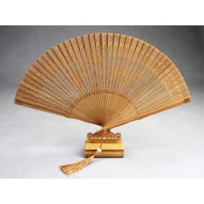 """Holzfächer """"Bambus"""" mit Fächerständer"""