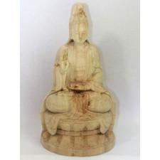 Holzskulptur Guanyin, Göttin der Barmherzigkeit