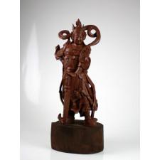 """Holzfigur """"Bodhisattva Wei Tuo"""""""