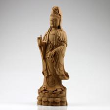"""Holzskulptur """"Guanyin des Lebens"""", Kwan Yin Holzfigur"""