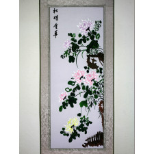 "Stickbild ""Die Vier Edlen - Chrysantheme"""