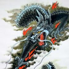 Rollbild Drache - japanischer Stil