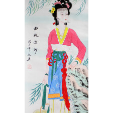 "Japanisches Rollbild ""Xi Shi"""