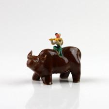 """Keramik-Figur """"Büffel"""", chinesisches Sternzeichen"""