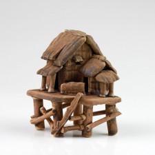 """Bonsai-Figur """"Bambushütte auf Pfahlbauten"""", asiatische Keramikfigur"""