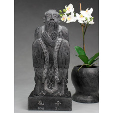 Steinfigur Konfuzius
