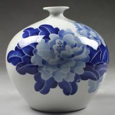 "Kugelvase ""Lotusblüte"" chinesische Vase Porzellan"