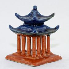 Bonsai-Figur Pavillon, quadratisch - handgefertigte Keramik