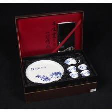 """Chinesisches Teeservice """"Feldlerchen"""" Manufaktur Guzhen"""