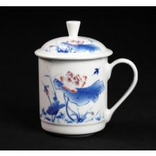 """Chinesische Teetasse """"Zauber des Lotus"""", Teetasse Porzellan im Geschenk-Set"""