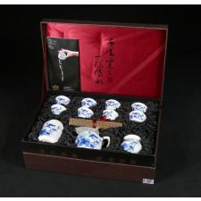 """Chinesisches Teeservice """"Fisch im Lotusteich"""" Manufaktur Guzhen"""