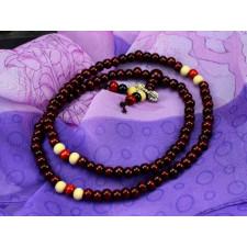"""Buddhistische Gebetskette """"Mala"""" (dunkel, 52cm)"""