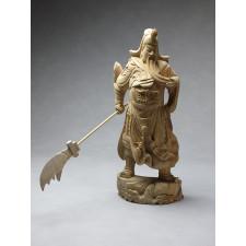 "Holzskulptur ""General Guan Yu"""