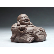 """Yixing Tonfigur """"Buddha mit Gebetskette"""""""