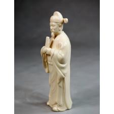"""Klassische Porzellanfigur """"Die Acht Unsterblichen - Cao Guojiu"""""""