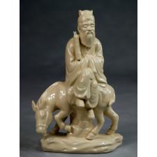 """Klassische Porzellanfigur """"Die Acht Unsterblichen - Zhang Guolao"""""""