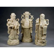 Fu Lu und Shou Porzellanfiguren Set Sanxing