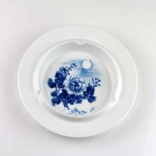 """Porzellan-Aschenbecher """"Chrysanthemen im Mondschein"""", chinesischer Aschenbecher"""