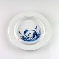 Porzellan blau-weiß, Kalligraphie Farbmischschale