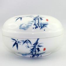 Chinesische Porzellandose Bambus