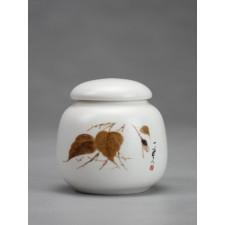"""Porzellan-Teedose klein """"Herbstblätter"""""""