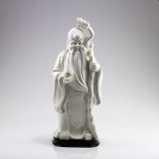 Porzellanfigur Sanxing Shou, chinesischer Glücksgott