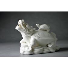 Porzellanfigur Drachenschildkröte