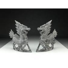 """Steinfiguren """"Qilin"""", Jin-Dynastie"""