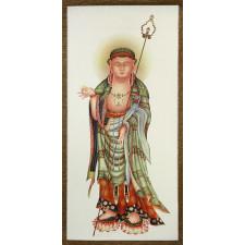 """Rollbild """"Buddha Wandermönch"""""""