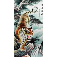 """Rollbild """"Tiger"""", chinesische Bildrolle"""