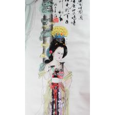 "Chinesische Bildrolle ""Yang Guifei"""