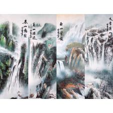 """Chinesische Rollbilder """"Vier Jahreszeiten"""""""