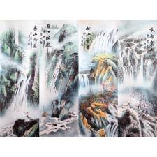 """Chinesische Rollbilder """"Vier Jahreszeiten"""" (groß)"""
