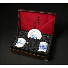 """Chinesisches Geschenkset """"Rosen in der Mondnacht"""" Manufaktur Guzhen"""