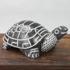 Schwarze Schildkröte Steinfigur Feng Shui