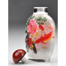 """Snuff Bottle """"Päonien und Goldfische"""""""