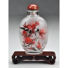 "Snuff Bottle ""Vögel zwischen Pflaumenblüten"""