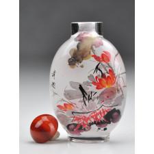 """Snuff Bottle """"Blüten im Steingarten"""""""