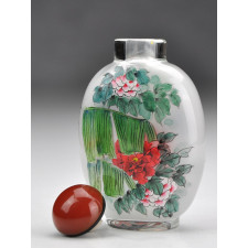 "Snuff Bottle ""Vögel im Blumenmeer"""