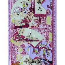 """Chinesisches Tuch """"Palastszenen"""", rosa"""