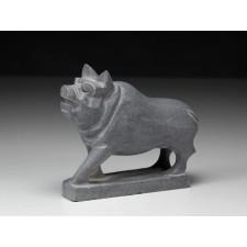 """Steinfigur """"Chinesische Tierkreiszeichen – Das Schwein"""""""