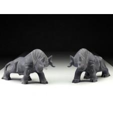 """Steinfiguren """"Kraftvolle Stiere"""""""