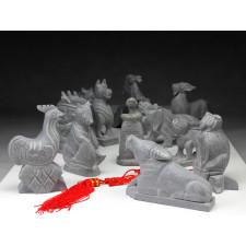 """Steinfiguren Set """"Chinesische Tierkreiszeichen"""""""