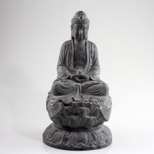 "Steinfigur ""Buddha Amitabha Lotossitz"""