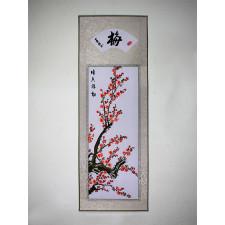 """Stickbild Chinesische Blumen """"Pflaumenblüte"""""""