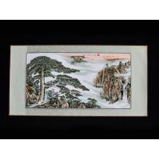 """Stickbild """"Kiefer im Morgennebel"""", Huang Shan"""