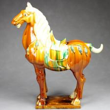 """Tang-Pferd chinesische Pferdeskulptur """"TangMa"""""""