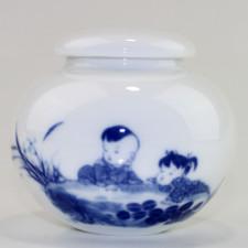 "Keramik-Teedose ""Kinder am Teich"""